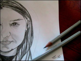 My Drawing of you no.1 by LeSsArt