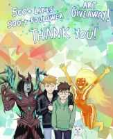 500 likes+followers Milestone - Art giveaway! by Sciamano240
