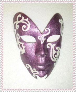 Lilac Lady Mask by sapphiremasquerade