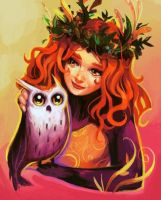 Owl Girl by Eldensa