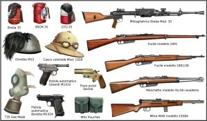 WW2 Italian Army Weapons and Equipment by AndreaSilva60