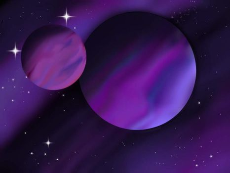 Purple Planets by lite336
