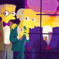 Mr. Burns and Smithers 4 by MissNeens