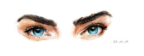 Cara Delevingne Eyes by Sterys