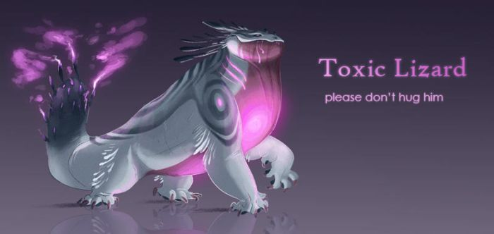 CLOSED Adopt Auction - Toxic Lizard by OwlCoat