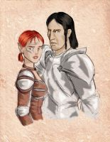 DAO: Comm. Elora and Loghain by SoniaCarreras
