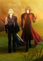 Commission - Cloud and Genesis by Cati-Art