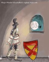 Robert the Bruce meets spider by ArtisanCreativeArts