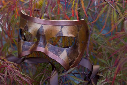 Harlequin Leather Mask by OsborneArts