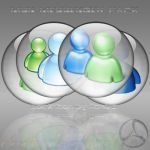 Silver Aqua MSN Messenger Icon by rontz