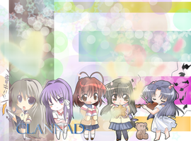 Clannad Chibi wall :D by dangounderthebridge