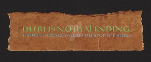 There is no real ending. by isolationism