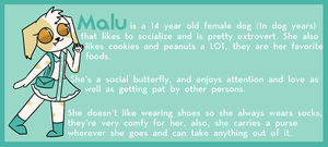 ~Malu Reference Sheet (RE)~ by TokieTheDeadGuy