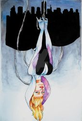 Watercolor Spider Gwen by Thunkstudio