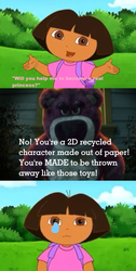 Lotso Insulted Dora by MikeJEddyNSGamer89