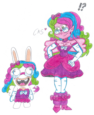Claire Meets Rabbid Claire by ClaireAimee