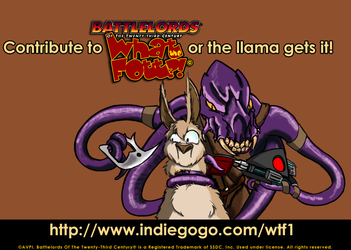 Give money to What The Fott?! or the llama gets it by Battlelords