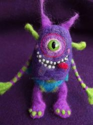 Felted Silly Monster by Neyrelle