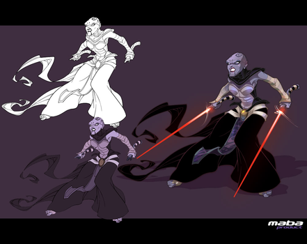 The Dathomirian Dark Jedi Asajj Ventress-part1 by MabaProduct
