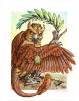 Abade - Stone Watercolor by windfalcon