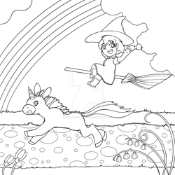 Magical Road (Colouring Page)
