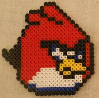 Red Angry Bird - Perler or Hama by Chrisbeeblack