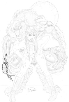 Vampirella pencil2 by Robinker