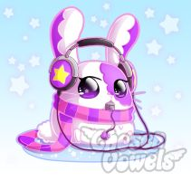 Q Bunny Charm by ChosenVowels