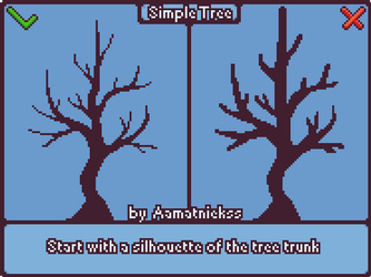 Simple Tree - Pixel art tutorial [GIF] by aamatniekss