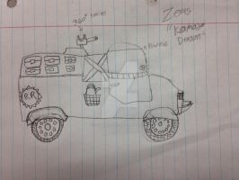 Zea's Komodo Dragon (Vehicle) by StantheSpider