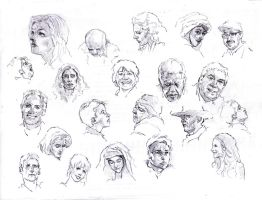 Faces sketch study 3 by SILENTJUSTICE