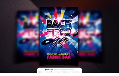 Back to 99 Flyer Template PSD by Dannygdesigns