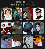 2016 Summary of Art by Nanihoo