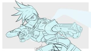 Overwatch - Tracer (WIP 2) by ShinsArt