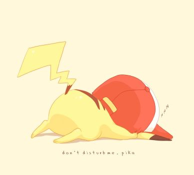 don't disturb me,pika by moremindmel0dy