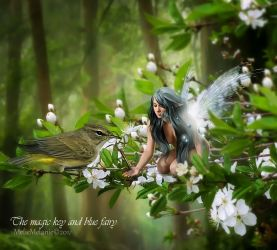 The magic key and blue fairy by MelFeanen