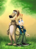 Dukey and Johnny Test by Kivuli