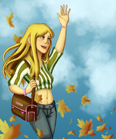 There Go the Leaves by Chiiasa