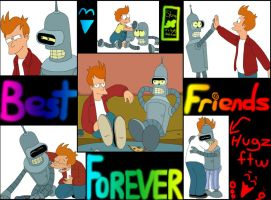 Fry And Bender - Best Friends by MegBeth