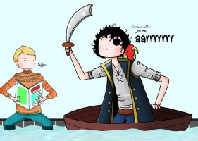 Sherlock and John: Pirate by ice-cream-skies