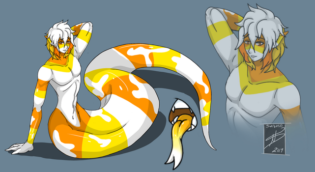 Halloween Theme Naga Adopt: Candy Corn (CLOSED) by shaygoyle