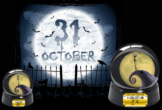 Nightmare Before Christmas Snow Globe by Ionstorm  by ionstorm01
