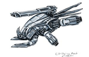 Cyber Punk Police Drone Concept - Digital Warlord by JWraith