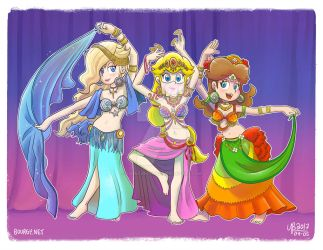 Charming Belly Dancer Princesses! by TheBourgyman