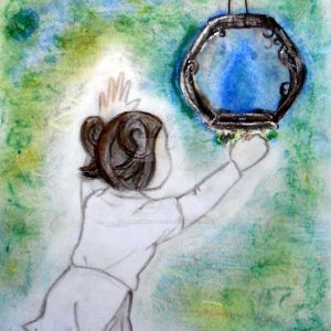 The little girl and the blue lantern