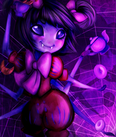 Undertale- Muffet by TheChampofAndromeda