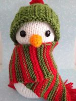 Knitted Snowman by Simnut