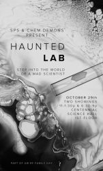Haunted Lab Poster by SPikEtheSWeDe