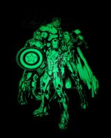 The Avengers glow-in-the-dark T-shirt by gamera68