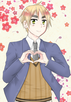 Keep calm and love Iggy! Coloured by roona-chan